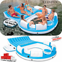 Inflatable Oasis Island 7-person Pool Lake Floating Sea Water Party Rafting