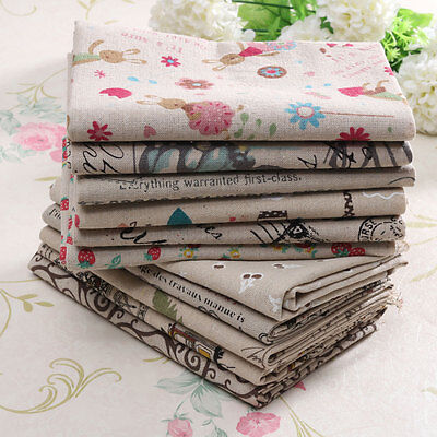 Retro Variety European Style Natural Cotton Linen Fabric Cloth DIY Patchwork