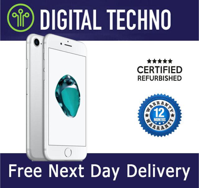 Unlocked Apple iPhone 7 - Silver - 32GB - Network & SIM Free + Warranty Grade A