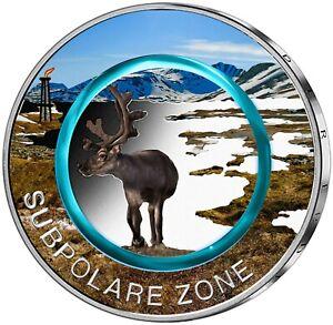 5x 5 Euro Gedenkmünze BRD Subpolare Zone 2020 Farbe Farbmünze Deutschland ADFGJ