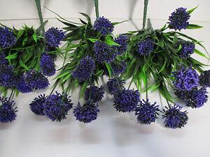 deko 3 x asternbusch blau k nstlich 43 cm astern seidenblumen floristik wie echt ebay. Black Bedroom Furniture Sets. Home Design Ideas