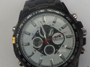 a vintage gents stainless steel cased OTS chrono style watch