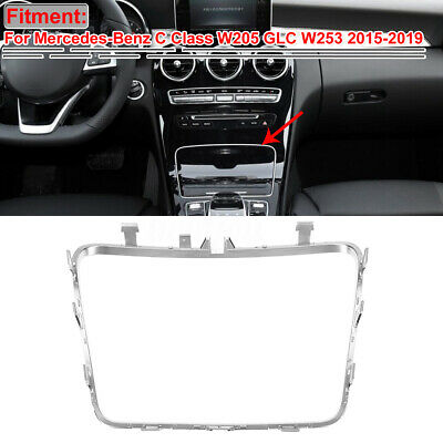 Car Water Cup Holder Frame Trim For Mercedes Benz C Class W205 C180 C200 GLC