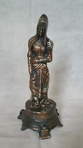 Vintage Copper Statue of God Figurine Metal Sculpture