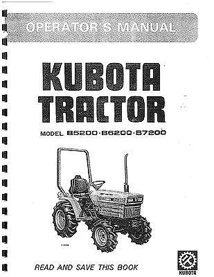 New Operators Manual Fits Kubota Tractor Model B5200D