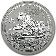 2010 5 oz Silver Australian Perth Mint Lunar Year of the Tiger Coin - SKU #54870