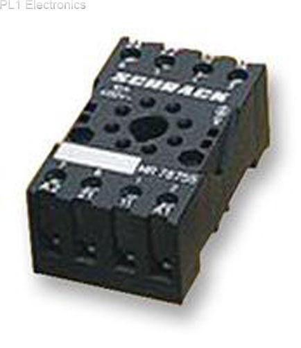 5 pcs. DPDT 8-Pin MT78755 DIN Rail TE CONN Relay Socket