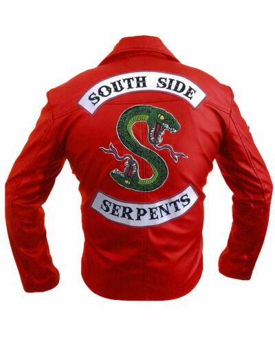 ecologica pelle vera Riverdale Biker Southside Giacca Jughead in Men Serpents xR6TFw0q