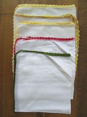 Inteligente Mouchoirs Femme Coton Dentelle Crochet Fil Napperons