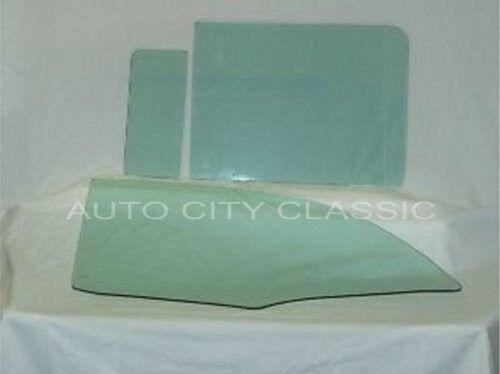 1956 1957 Chev Pontiac 4 Door Hardtop Glass Vent Front Rear Doors Set Green Tint