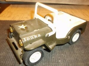 Vintage Toy Metal Car Army Jeep 6 X3 X3 5 Approx Tonka 1968 Green