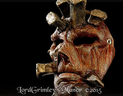 Nailed Ned Tom Devlin Halloween Half Mask Prop Horror Monster 13 Ghosts