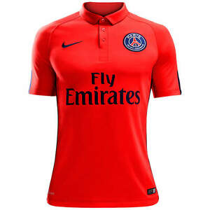 new arrival b8fc8 1795b Details about Nike PSG Authentic Paris Saint-Germain Soccer Jersey Match  Player issue Shirt LG