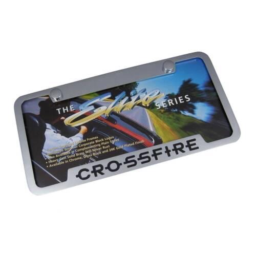 Chrysler Crossfire Notched Chrome Brass  License Plate Frame