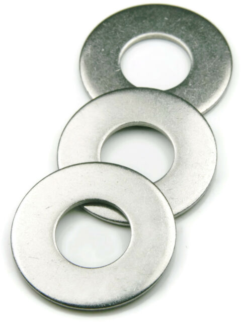 Stainless Steel Flat Washer Metric 6M, Qty 250
