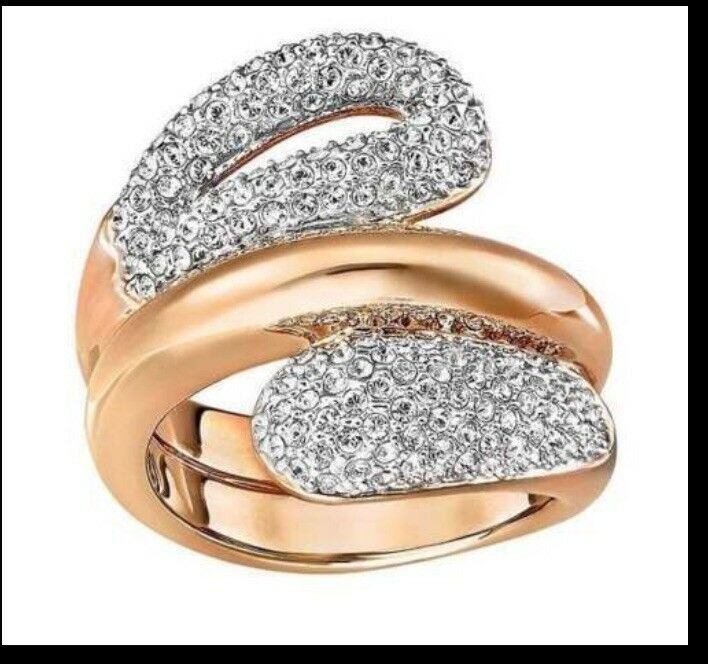 Swarovski Every Ring With Crystal pink gold- Size 5