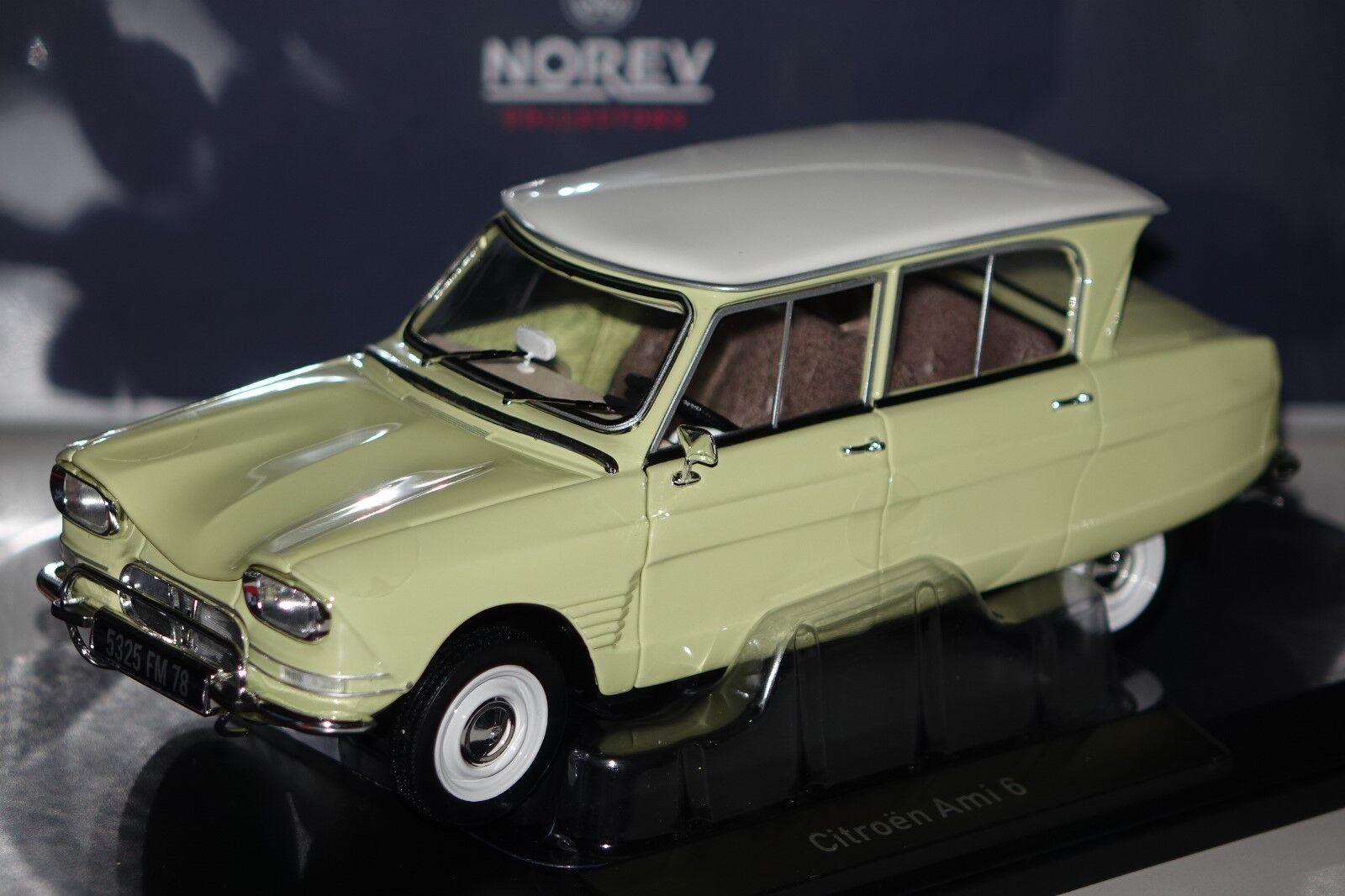 Citroën Ami 6 1964 giallo 1 18 norev 181535 nuevo & OVP