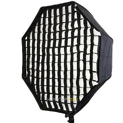 "80cm 32"" Octagon Umbrella Softbox Reflector + Grid For Photo Video Studio Flash"