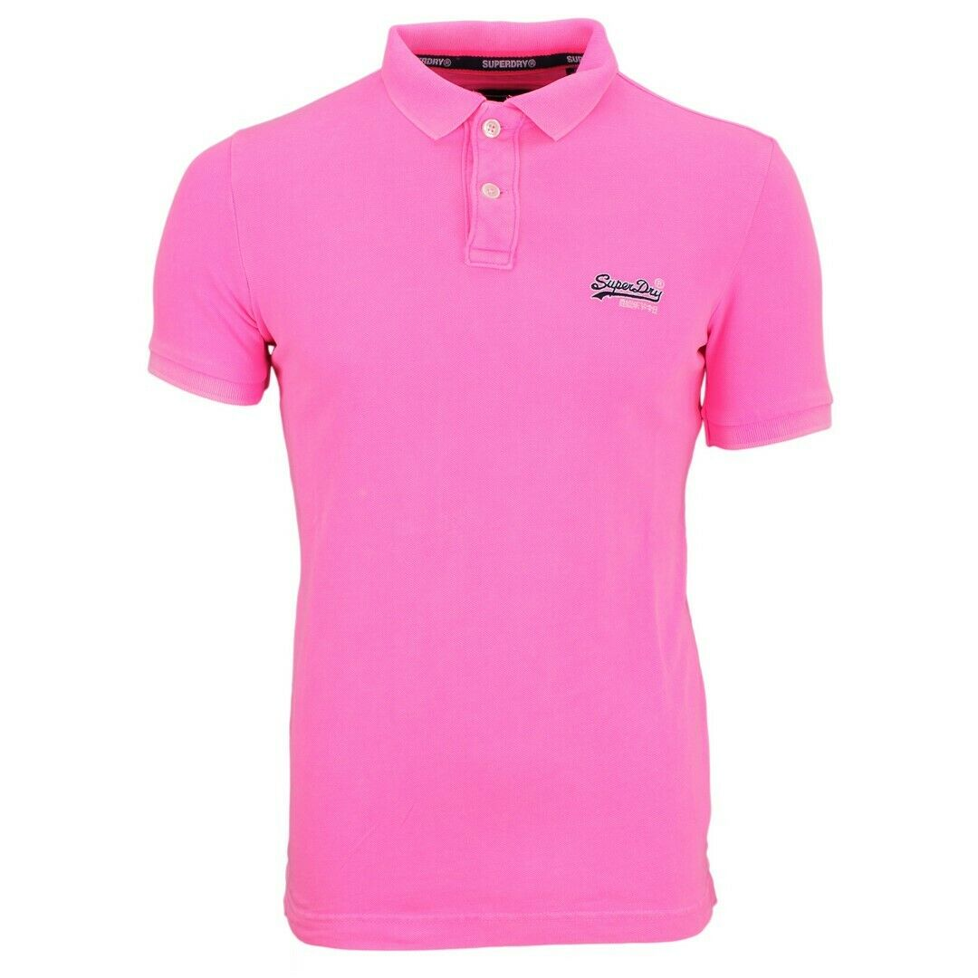 Superdry Men's Polo Shirt Hyper Classic Pique Pink M11010et S20 Pink