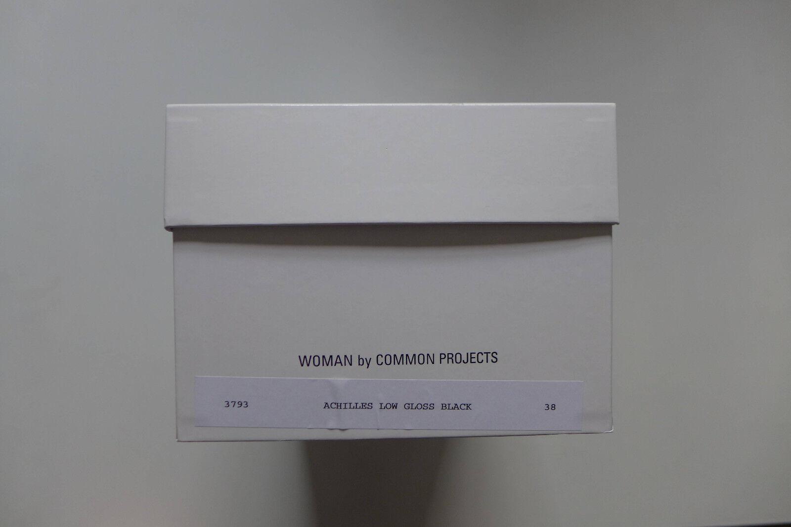 Mujer Mujer Mujer por proyectos comunes Aquiles Brillo Negro, Tallas 36 & 38-BNWB, bc80a1