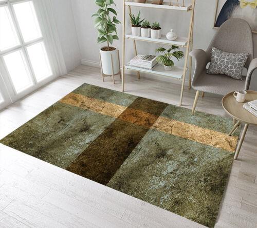 Shabby Vintage old Background Stripes Area Rugs Bedroom Living Room Floor Mat