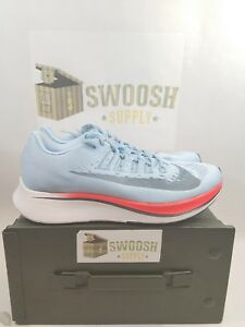 96ca3edc6f766 Nike Zoom Fly Ice Blue Running Sneakers Sneaker 880848-401 Mens Size ...