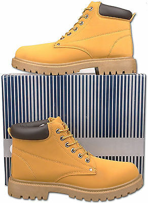 Mens New Lace Up Honey Desert Style Casual Boots Size 6 7 8 9 10 11 12