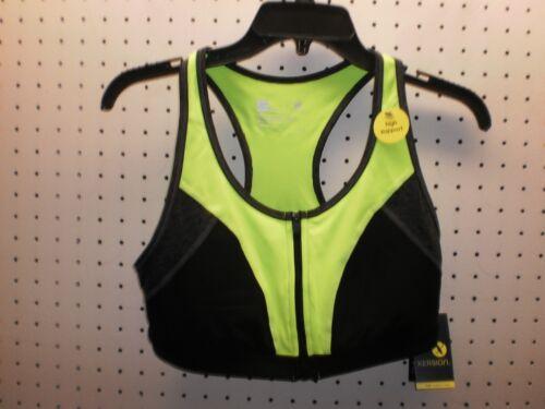 Xersion Misses Quick-Dri Zip-Front Athletic//Soutien-gorge Sport Libre SHPG NWTA