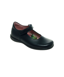 Petasil Childrens Girls Bea Leather Mary Jane School Shoes Navy