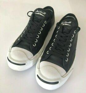 Converse-Jack-Purcell-Black-Leather-Sneakers-Unisex-sz-9-5US-43EU