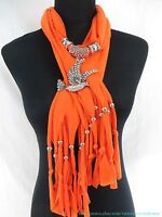 Us Seller | Rhinestone Animal Paw Scarf With Pendant Jewelry Wholesale Necklace