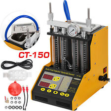 Auto Ultrasonic Fuel Injector Cleaner Tester Ct150 For Car Motor 4 Cylinder