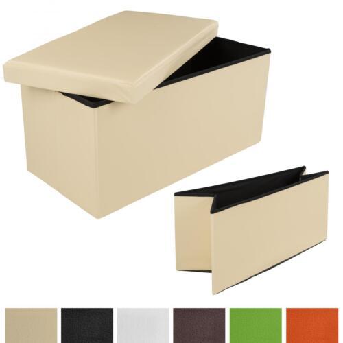 Pliable Coffre Tabouret Boîte de rangement siège siège cube tabouret cuir synthétique