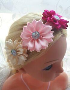 UK POPULAR Baby Girls Flower Headband Soft HeadBand Elastic Hairband Accessories