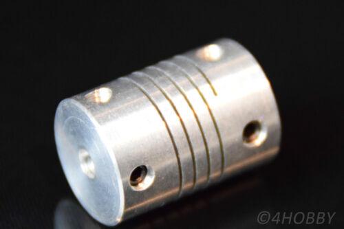 Onde FLESSIBILE FRIZIONE ALU 4 x 5mm onda Mini Frizione Motore passo passo ATTACCO