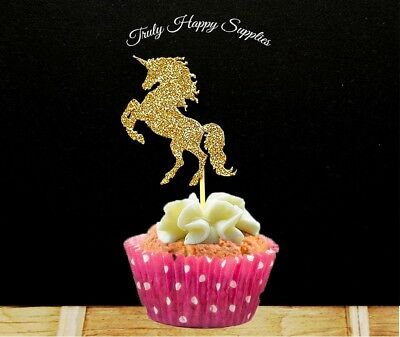 Swell Unicorn Cupcake Topper Pick 6 12 In 29 Glitter Colours Birthday Personalised Birthday Cards Cominlily Jamesorg