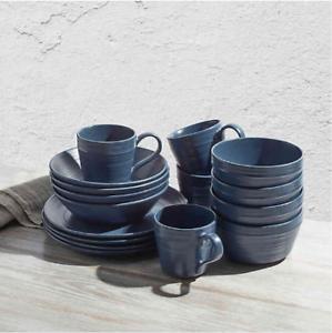 Bee /& Willow Home Milbrook 16-Piece Dinnerware Set in Blue