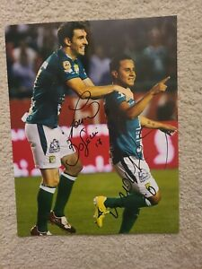 foto 11x14 Autografiada por Mauro Bouselli y Luis montes de Leon