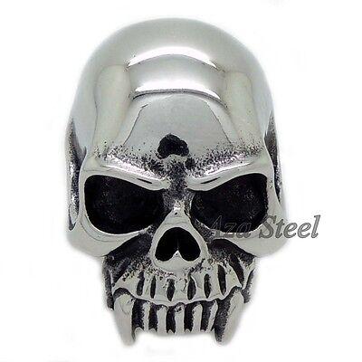 Men's Huge Gothic Vampire Skull 316L Stainless Steel Biker Ring