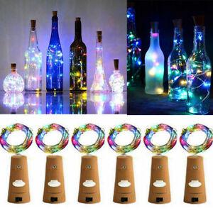 6x-2m-20LED-Mini-Bottle-Stopper-Lamp-String-Fairy-Light-Colorful-Light-Bar-Decor