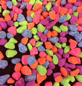 DéSintéRessé Fish Tank Gravel 1 Kg Fluorescent Rose Orange Vert Bleu Violet Aquarium Gravier-afficher Le Titre D'origine