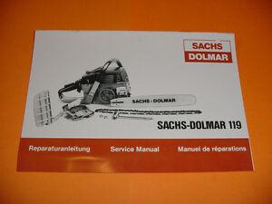 Sachs dolmar 120 Owners manual