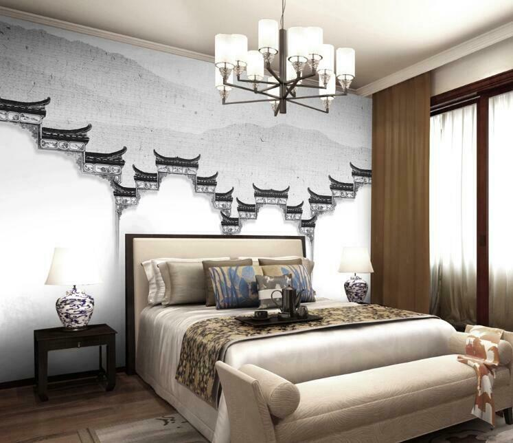 3D Ink Art Fence N1451 Wallpaper Wall Mural Removable Self-adhesive Sticker Amy