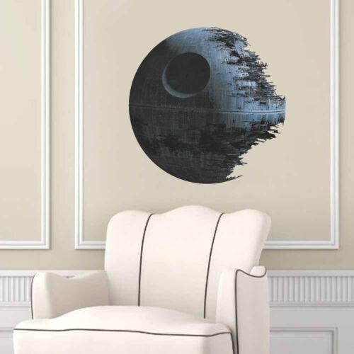 Star Wards Death Star Mural Wall Decal Sticker Kids Nursery Room Decor DIY PVC