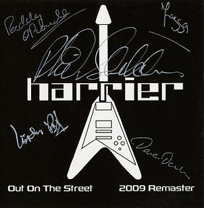 HARRIER-Out-On-The-Street-EP-CD-2009-Remastered-signed-cardboard-sleeve-NWOBHM
