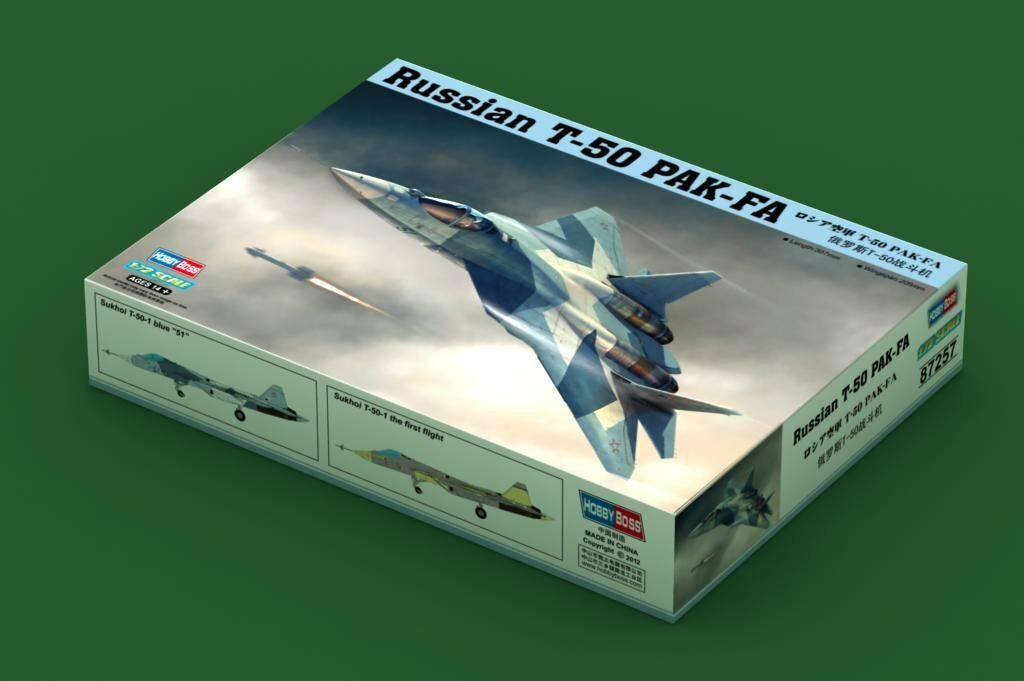 87257 Trumpeter 1 72 Model Scale Russian T-50 PAK-FA Fighter Bomber Plane