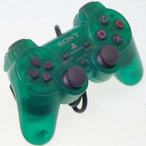 Sony-PlayStation-2-PS2-Dual-Shock-2-Controller-Emerald-SCPH-10010-Japan-Import
