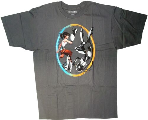 Mens Portal 2 Double Identity licensed T-shirt tee Charcoal size 2XL XXL