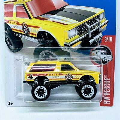 Chevy Blazer 2015 >> 2015 Hot Wheels Rescue 3 10 Chevy Blazer 4x4 Yellow White Beadlocks New Sealed Ebay