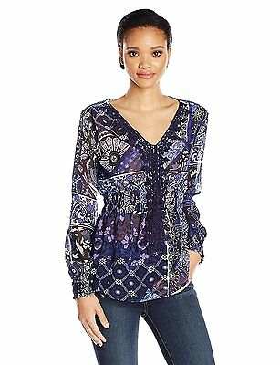 Desigual Women's Elo Woven Long Sleeve Blouse - Now $39  /was $95.95